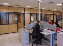 Disposición de oficinas y archivos acondicionados en nuestras instalaciones.